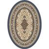 Milliken Tiraz Multicolor Oval Indoor Tufted Area Rug (Common: 5 x 8; Actual: 64-in W x 92-in L)