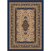 Milliken 3-ft 10-in x 5-ft 4-in Phantom Blue Tiraz Area Rug