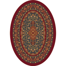 Milliken Tiraz Multicolor Oval Indoor Tufted Area Rug (Common: 5 x 8; Actual: 64-in W x 92-in L)