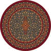 Milliken Tiraz Multicolor Round Indoor Tufted Area Rug (Common: 8 x 8; Actual: 91-in W x 91-in L)