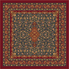 Milliken Tiraz Multicolor Square Indoor Tufted Area Rug (Common: 8 x 8; Actual: 91-in W x 91-in L)