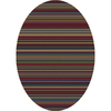 Milliken Canyon 64-in x 46-in Oval Green Transitional Area Rug