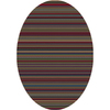 Milliken Canyon 92-in x 64-in Oval Green Transitional Area Rug