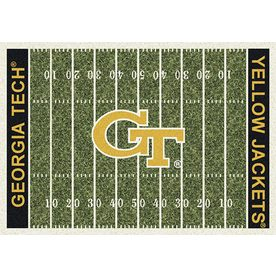 Milliken NCAA College Home Field Multicolor Rectangular Indoor Tufted Sports Area Rug (Common: 8 x 10; Actual: 92-in W x 129-in L)