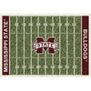 Milliken NCAA College Home Field Multicolor Rectangular Indoor Tufted Sports Area Rug (Common: 5 x 8; Actual: 64-in W x 92-in L)