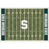Milliken NCAA College Home Field Multicolor Rectangular Indoor Tufted Sports Area Rug (Common: 8 x 11; Actual: 92-in W x 129-in L)