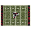 Milliken 5-ft 4-in x 7-ft 8-in Atlanta Falcons NFL Homefield Area Rug