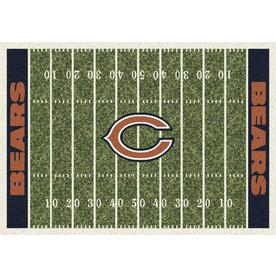 Milliken NFL Home Field Multicolor Rectangular Indoor Tufted Sports Area Rug (Common: 5 x 8; Actual: 64-in W x 92-in L)