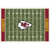 Milliken 5-ft 4-in x 7-ft 8-in Kansas City Chiefs NFL Homefield Area Rug
