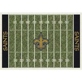 Milliken 5-ft 4-in x 7-ft 8-in New Orleans Saints NFL Homefield Area Rug