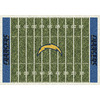 Milliken 5-ft 4-in x 7-ft 8-in San Diego Chargers NFL Homefield Area Rug