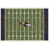 Milliken 3-ft 10-in x 5-ft 4-in Baltimore Ravens NFL Homefield Area Rug