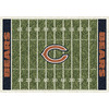 Milliken NFL Home Field Multicolor Rectangular Indoor Tufted Sports Area Rug (Common: 8 x 10; Actual: 92-in W x 129-in L)