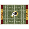 Milliken 3-ft 10-in x 5-ft 4-in Washington Redskins NFL Homefield Area Rug