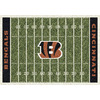 Milliken 3-ft 10-in x 5-ft 4-in Cincinnati Bengals NFL Homefield Area Rug