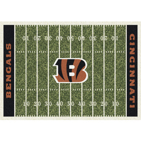 Milliken NFL Home Field Multicolor Rectangular Indoor Tufted Sports Area Rug (Common: 8 x 10; Actual: 92-in W x 129-in L)