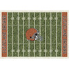 Milliken NFL Home Field Multicolor Rectangular Indoor Tufted Sports Area Rug (Common: 4 x 6; Actual: 46-in W x 64-in L)
