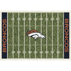 Milliken 7-ft 8-in x 10-ft 9-in Denver Broncos NFL Homefield Area Rug
