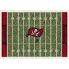 Milliken 3-ft 10-in x 5-ft 4-in Tampa Bay Buccaneers NFL Homefield Area Rug
