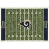 Milliken 3-ft 10-in x 5-ft 4-in St. Louis Rams NFL Homefield Area Rug