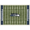 Milliken 3-ft 10-in x 5-ft 4-in Seattle Seahawks NFL Homefield Area Rug