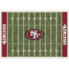 Milliken 7-ft 8-in x 10-ft 9-in San Francisco 49ers NFL Homefield Area Rug