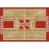 Milliken 5-ft 4-in x 7-ft 8-in Rectangular University of Nebraska Area Rug