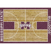 Milliken 5-ft 4-in x 7-ft 8-in Rectangular Mississippi State University Area Rug
