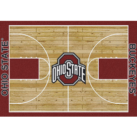 Milliken NCAA Home Court Multicolor Rectangular Indoor Tufted Sports Area Rug (Common: 5 x 8; Actual: 64-in W x 92-in L)