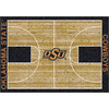 Milliken 3-ft 10-in x 5-ft 4-in Rectangular Oklahoma State University Area Rug