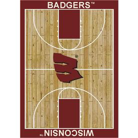 Milliken 3-ft 10-in x 5-ft 4-in Rectangular University of Wisconsin Area Rug
