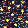 Joy Carpets Streamers and Stars Multicolor Cut Pile Indoor Carpet