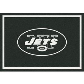 Milliken NFL Spirit Black Rectangular Indoor Tufted Sports Area Rug (Common: 8 x 10; Actual: 92-in W x 129-in L)