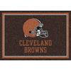 Milliken NFL Spirit Brown Rectangular Indoor Tufted Sports Area Rug (Common: 4 x 6; Actual: 46-in W x 64-in L)