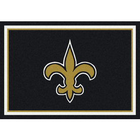 Milliken 3-ft 10-in x 5-ft 4-in New Orleans Saints NFL Spirit Area Rug