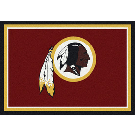 Milliken NFL Spirit Red Rectangular Indoor Tufted Sports Area Rug (Common: 8 x 10; Actual: 92-in W x 129-in L)