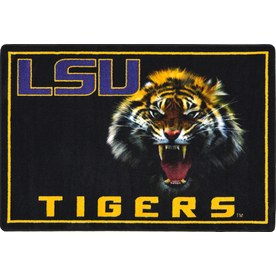 Joy Carpets 2-ft 8-in x 3-ft 10-in Rectangular NCAA LSU Tigers Accent Rug