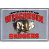 Joy Carpets 2-ft 8-in x 3-ft 10-in Rectangular NCAA Wisconsin Badgers Accent Rug