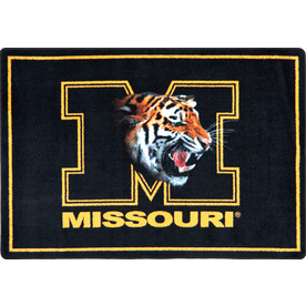 Joy Carpets College Mascot Rectangular Multicolor Sports Area Rug (Common: 5-ft x 8-ft; Actual: 5-ft 4-in x 7-ft 8-in)