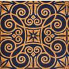 Joy Carpets Antique Scroll Navy Cut Pile Indoor Carpet