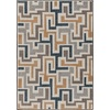 Milliken Mix and Mingle 64-in x 92-in Rectangular Brown/Tan Geometric Area Rug
