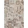 Milliken Mix and Mingle 64-in x 92-in Rectangular Gray/Silver Geometric Area Rug