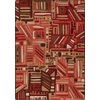 Milliken Mix and Mingle 64-in x 92-in Rectangular Red/Pink Geometric Area Rug