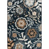 Milliken Mix and Mingle 64-in x 92-in Rectangular Blue Floral Area Rug