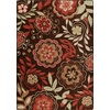 Milliken Mix and Mingle 64-in x 92-in Rectangular Red/Pink Floral Area Rug