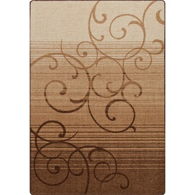 Milliken Mix and Mingle Brown Rectangular Indoor Tufted Area Rug (Common: 5 x 7; Actual: 64-in W x 92-in L)