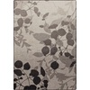 Milliken Mix and Mingle 64-in x 92-in Rectangular Gray/Silver Floral Area Rug