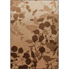 Milliken Mix and Mingle 64-in x 92-in Rectangular Brown/Tan Floral Area Rug