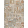 Milliken Mix and Mingle 32-in x 46-in Rectangular Brown/Tan Geometric Accent Rug