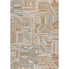 Milliken Mix and Mingle 46-in x 64-in Rectangular Brown/Tan Geometric Area Rug